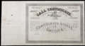 Confederate Notes:Group Lots, Ball 355 Cr. 159 No Denomination 1864 Four Per Cent CallCertificate. Fine-Very Fine.. ...
