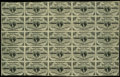 Fr. 1226 3c Third Issue Complete Sheet of 25 Extremely Fine