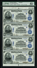 National Bank Notes:Maine, Portland, ME - $5-$5-$5-$5 1902 Date Back Fr. 590 The Canal NB Ch. # (N)941 Reconstructed Uncut Sheet. ...