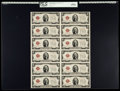 Small Size:Legal Tender Notes, Fr. 1508 $2 1928G Legal Tender Notes. Uncut Sheet of 12. PCGS Gem New 65PPQ.. ...