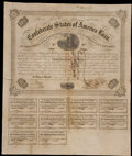 Confederate Notes:Group Lots, Ball 217 Cr. UNL $100 1863 Bond. . ...