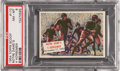 "Non-Sport Cards:Singles (Post-1950), 1954 Topps Scoop #110 ""Notre Dame's 4 Horsemen"" PSA NM-MT 8...."
