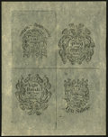 Colonial Notes:New Hampshire, New Hampshire April 3, 1742 7s/6d-£8-£4-10s Uncut Sheet of CohenReprints Choice About New....