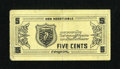 Military Payment Certificates:Series 701, Thai MPC Coupon Series 2 5¢ Schwan 1011 Extremely Fine. ...