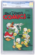 Golden Age (1938-1955):Cartoon Character, Walt Disney's Comics and Stories #64 - File Copy (Dell, 1946) CGC VF+ 8.5 Cream to off-white pages....