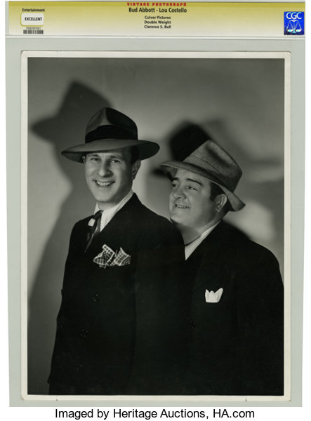 Movie TV MemorabiliaPhotos Bud Abbott And Lou Costello Photo Portrait By Clarence