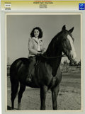 Movie/TV Memorabilia:Photos, Elizabeth Taylor and King Charles Photo Portrait by ClarenceBull....
