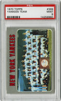 Baseball Cards:Singles (1970-Now), 1970 Topps Yankees Team #399 PSA Mint 9....