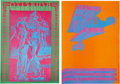 Music Memorabilia:Posters, Victor Moscoso Concert Poster Group (Neon Rose, 1967).... (Total: 2Items)
