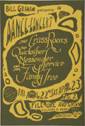 Music Memorabilia:Posters, Grass Roots Fillmore Auditorium Concert Poster BG-00 (Bill Graham,1966)...