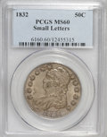 Bust Half Dollars: , 1832 50C Small Letters MS60 PCGS. PCGS Population (17/316). NGCCensus: (2/435). Mintage: 4,797,000. Numismedia Wsl. Price ...