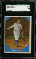 Autographs:Baseballs, 1960 Fleer Babe Ruth #3 SGC 84 NM 7....