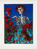 Music Memorabilia:Posters, Grateful Dead Skull And Roses Limited Print Signed ByStanley Mouse ('90s)....