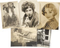 Movie/TV Memorabilia:Autographs and Signed Items, Assorted Vintage Silent Era Starlet-Signed Photos... (Total: 5Items)