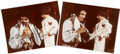 "Music Memorabilia:Photos, Elvis Presley Vintage 11"" x 14"" Stage Photos.... (Total: 2 Items)"