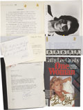 Movie/TV Memorabilia:Autographs and Signed Items, Cathy Lee Crosby and Richard Belzer Signed Items....