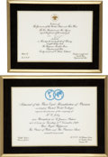 Movie/TV Memorabilia:Memorabilia, Jilly Rizzo's Keepsake Invitations.... (Total: 2 Items)