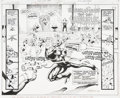 Original Comic Art:Panel Pages, Steve Erwin, Will Blyberg, Al Vey, and Charles Barnett Deathstroke the Terminator #18, page 2 and 3 Original Art (...