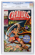 Bronze Age (1970-1979):Horror, Creatures on the Loose #10 (Marvel, 1971) CGC NM 9.4 Off-white towhite pages....