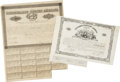 "Miscellaneous:Ephemera, Two Confederate States of America Loan Bonds, (1) 14"" x 10"",December 29, 1862, Richmond, with three $4 coupons (some coupon..."