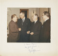 "Autographs:U.S. Presidents, Lyndon B. Johnson Inscribed and Signed Photo. A matte finish photoof 9.75"" x 7.75"" mounted to a 12.5"" x 12"" white mat board..."
