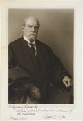 Autographs:Statesmen, Charles Evans Hughes Photo Signed as U.S. Chief Justice. A formalportrait in his Supreme Court robes with the blind sta...