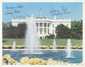 "Autographs:U.S. Presidents, White House Photo Signed by Jimmy and Rosalyn Carter, JacquelineKennedy, Gerald [""Jerry Ford""] and Betty Ford. ..."