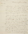 "Autographs:Non-American, Walter Butler Letter Signed. Two pages, 7.5"" x 8.75"", December 14,1774, Buttersburg, [?]. In the..."