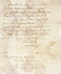 "Autographs:Statesmen, Simon Cameron Autograph Letter Signed as secretary of war. Twopage, front and verso, 6.5"" x 7.75"", November 30, 1861, Washi..."