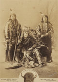 American Indian Art:Photographs, A GROUP PORTRAIT OF WHITE EAGLE, BOY CHIEF, AND SPOTTED HORSE. c.1885...