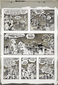 "Original Comic Art:Panel Pages, Wally Wood Three Dimensional EC Classics ""V-Vampires"" page 5Original Art (EC, 1954)...."