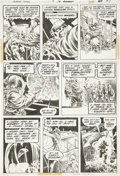 Original Comic Art:Panel Pages, Bernie Wrightson Swamp Thing #9 page 19 Original Art (DC,1974)....