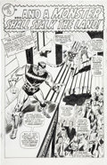 Original Comic Art:Splash Pages, Don Heck and George Roussos (as George Bell) The AvengersAnnual #1 page 30 Original Art (Marvel, 1967)....