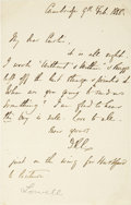 "Autographs:Authors, James Russell Lowell Autograph Letter Signed, ""J. R. L."".Four integral pages, written on page one, 4.5"" x 7"", February ..."