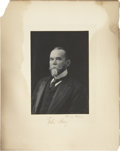 """Autographs:Statesmen, John Hay Photograph Signed. The 4"""" x 5.5"""" photo of the former private secretary of President Lincoln is affixed to an 8"""" x10..."""