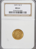 Liberty Quarter Eagles: , 1870 $2 1/2 MS61 NGC. NGC Census: (7/2). PCGS Population (2/2).Mintage: 4,555. Numismedia Wsl. Price for NGC/PCGS coin in ...