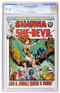Bronze Age (1970-1979):Miscellaneous, Shanna the She-Devil #1 (Marvel, 1973) CGC VF/NM 9.0 Whitepages....