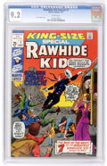 Bronze Age (1970-1979):Western, Rawhide Kid Annual #1 (Marvel, 1971) CGC NM- 9.2 White pages....