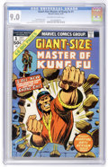 Bronze Age (1970-1979):Superhero, Giant-Size Master of Kung Fu #1 (Marvel, 1974) CGC VF/NM 9.0 Off-white to white pages....