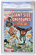 Bronze Age (1970-1979):Horror, Giant-Size Creatures #1 (Marvel, 1974) CGC NM 9.4 Off-whitepages....