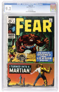 Bronze Age (1970-1979):Horror, Fear #4 (Marvel, 1971) CGC NM- 9.2 White pages....