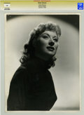 Movie/TV Memorabilia:Photos, Greer Garson Photo Portrait by Clarence Bull....