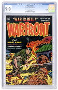 Golden Age (1938-1955):War, Warfront #1 File Copy (Harvey, 1951) CGC VF/NM 9.0 Cream tooff-white pages....