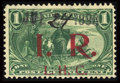 Stamps, #R158a, 1898, 1c Dark Yellow Green. (Used)....