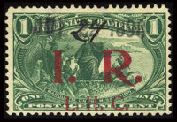 #R158a, 1898, 1c Dark Yellow Green. (Used)