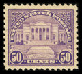 Stamps, #570, 1922, 50c Lilac XF-S 95 PSE. (Original Gum - Never Hinged)....
