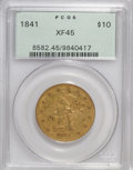 Liberty Eagles: , 1841 $10 XF45 PCGS. PCGS Population (32/44). NGC Census: (37/100).Mintage: 63,131. Numismedia Wsl. Price for NGC/PCGS coin...