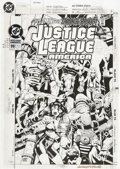 Original Comic Art:Covers, Chuck Wojtkiewicz and Bob Dvorak Justice League America #99Cover Original Art (DC, 1995)....
