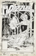 Original Comic Art:Covers, John Byrne Dazzler #36 Cover Original Art (Marvel, 1985)....