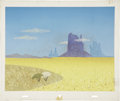 Animation Art:Production Drawing, UPA Animation Background Original Art (UPA, c. 1940-50s)....